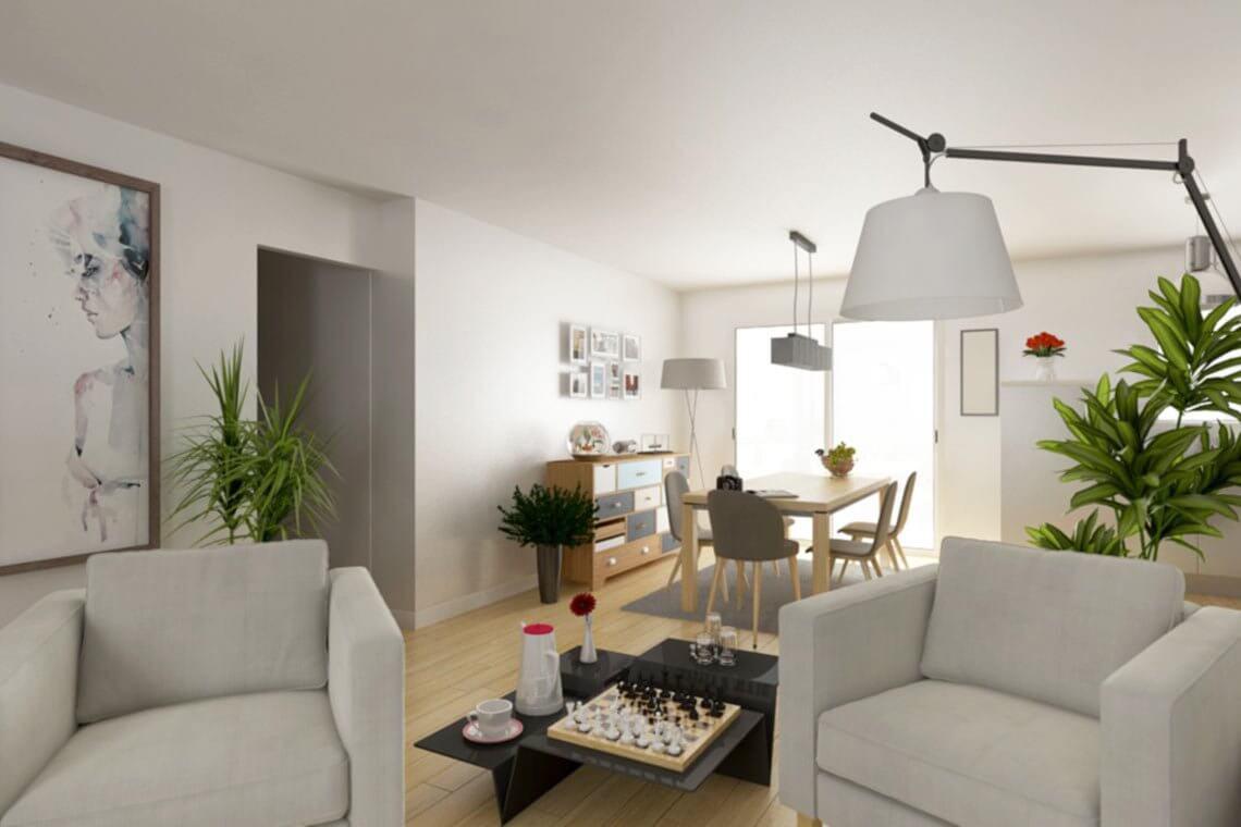 Interieur Salon Maison Contemporaine Tramontane Maisons ...